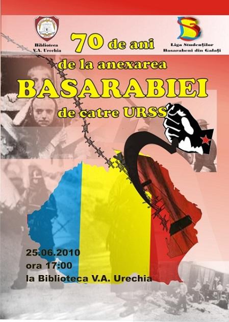70 de la anexarea Basarabiei de catre URSS